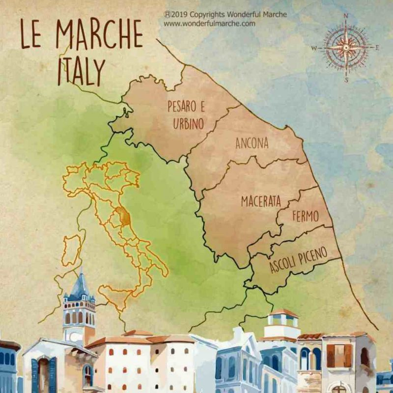 Pics Of Italy Map.Le Marche Italy Off The Beaten Path Wonderful Marche