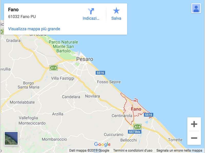 fano italy map