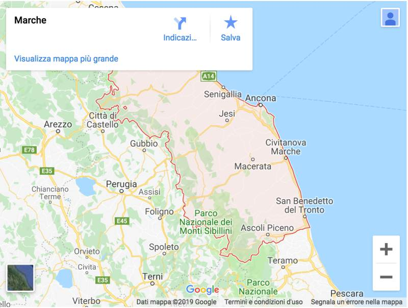 marche italy maps