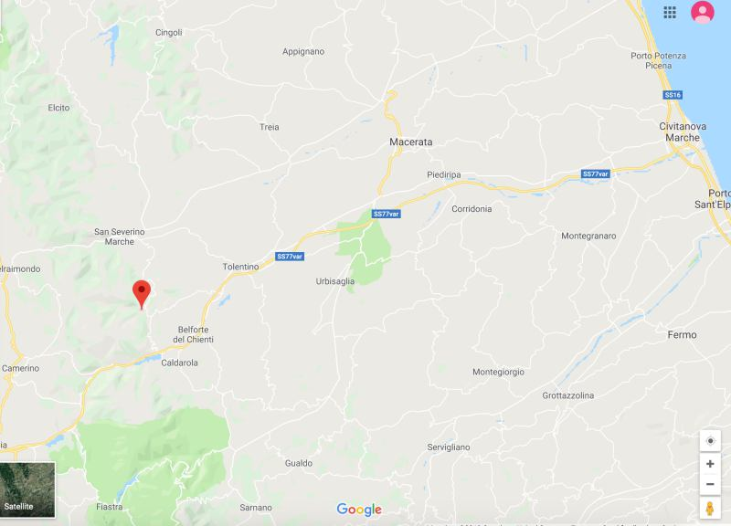 Serrapetrona Italy map