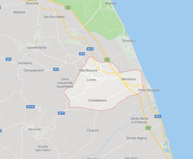 Loreto Italy Map