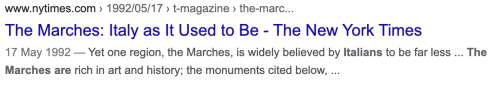 the marches are ny times in english